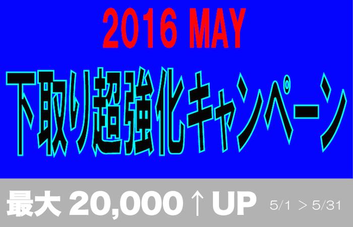 2016年5月キャンペーン